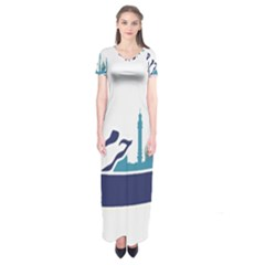 Seal Of Qom  Short Sleeve Maxi Dress
