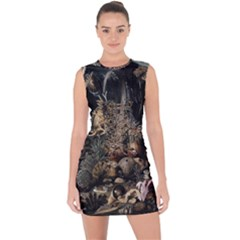 Underwater Lace Up Front Bodycon Dress