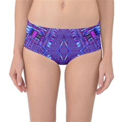 Race Time Queen Mid Waist Bikini Bottoms