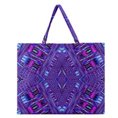 Race Time Queen Zipper Large Tote Bag