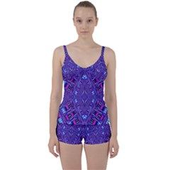 Race Time Queen Tie Front Two Piece Tankini