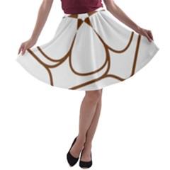 Logo Of Yazd  A Line Skater Skirt