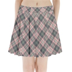 Pink And Sage Plaid Pleated Mini Skirt