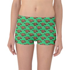 Guitars Pattern                                 Reversible Boyleg Bikini Bottoms