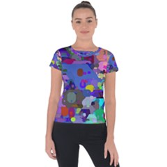 Big And Small Shapes                       Short Sleeve Sports Top