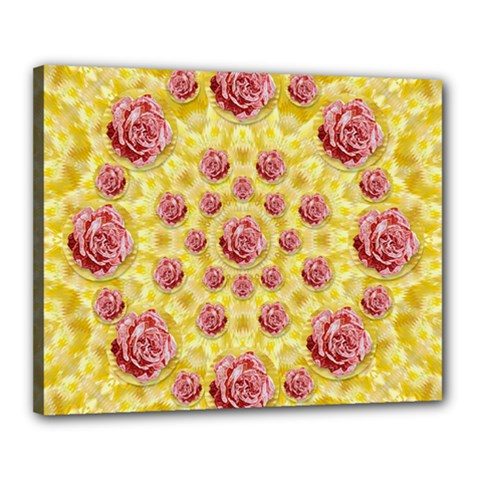 Roses And Fantasy Roses Canvas 20  X 16
