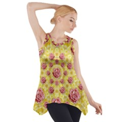 Roses And Fantasy Roses Side Drop Tank Tunic
