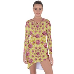 Roses And Fantasy Roses Asymmetric Cut Out Shift Dress