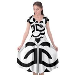 Seal Of Bandar Abbas Cap Sleeve Wrap Front Dress