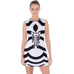 Seal Of Bandar Abbas Lace Up Front Bodycon Dress