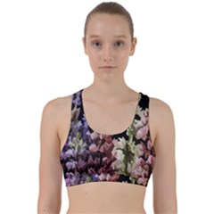 Flowers Back Weave Sports Bra