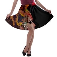 Transvestite A Line Skater Skirt