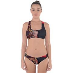 Transvestite Cross Back Hipster Bikini Set