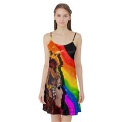 Transvestite Satin Night Slip