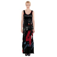 4th Of July Independence Day Maxi Thigh Split Dress