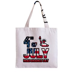 4th Of July Independence Day Zipper Grocery Tote Bag