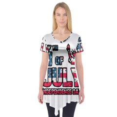 4th Of July Independence Day Short Sleeve Tunic