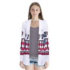 4th Of July Independence Day Drape Collar Cardigan