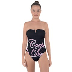 Carpe Diem  Tie Back One Piece Swimsuit