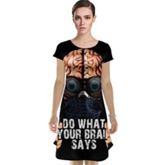 Do What Your Brain Says Cap Sleeve Nightdress