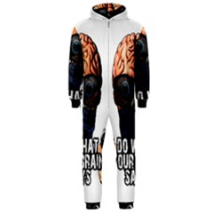 Do What Your Brain Says Hooded Jumpsuit (men)