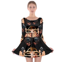 Do What Your Brain Says Long Sleeve Skater Dress