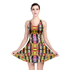 Three D Pie  Reversible Skater Dress