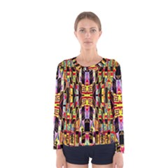 Three D Pie  Women s Long Sleeve Tee