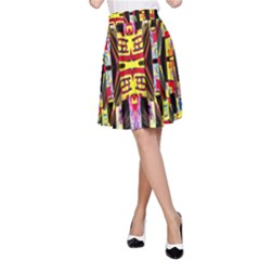 Three D Pie  A Line Skirt