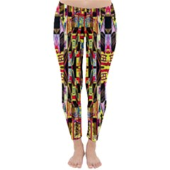 Three D Pie  Classic Winter Leggings