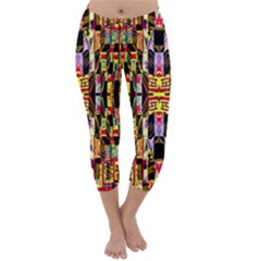 Three D Pie  Capri Winter Leggings