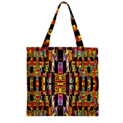 Three D Pie  Zipper Grocery Tote Bag