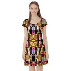 Three D Pie  Short Sleeve Skater Dress