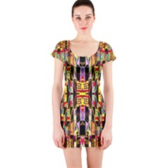 Three D Pie  Short Sleeve Bodycon Dress