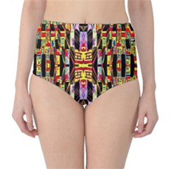 Three D Pie  High Waist Bikini Bottoms