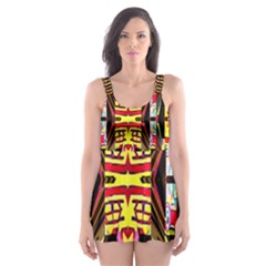 Three D Pie  Skater Dress Swimsuit