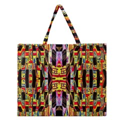 Three D Pie  Zipper Large Tote Bag