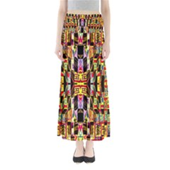 Three D Pie  Full Length Maxi Skirt