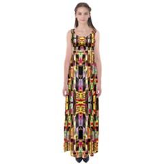 Three D Pie  Empire Waist Maxi Dress