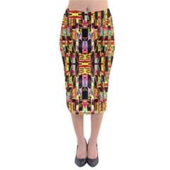Three D Pie  Midi Pencil Skirt
