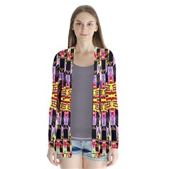 Three D Pie  Drape Collar Cardigan