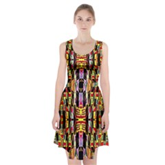 Three D Pie  Racerback Midi Dress