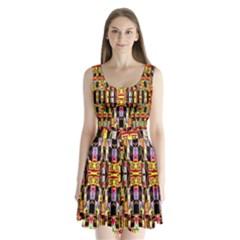 Three D Pie  Split Back Mini Dress