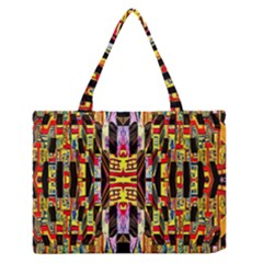 Three D Pie  Medium Zipper Tote Bag