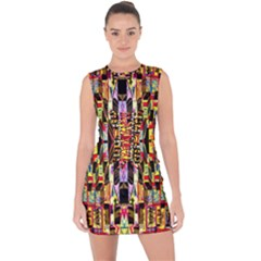 Three D Pie  Lace Up Front Bodycon Dress