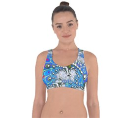 Fractal Fantasy 717b Cross String Back Sports Bra