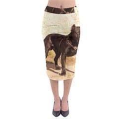 Perro De Pressa Canerio Full Midi Pencil Skirt