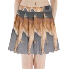 Finnish Spitz Full Pleated Mini Skirt