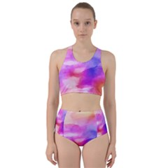 Colorful Abstract Pink And Purple Pattern Bikini Swimsuit Spa Swimsuit