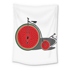 Watermelon Bicycle  Medium Tapestry
